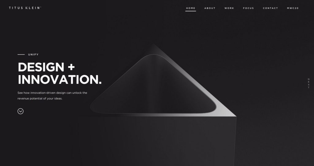 diseño web tendencia minimalista 2